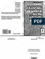 Denys Cuche-La Noción de Cultura en Las Ciencias Sociales