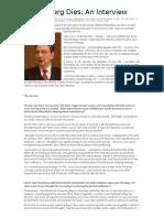 Thomas Jay Oord, Pannenberg Dies - An Interview (September 8, 2014)