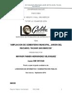 Proyecto Final Cementerio General Tacana