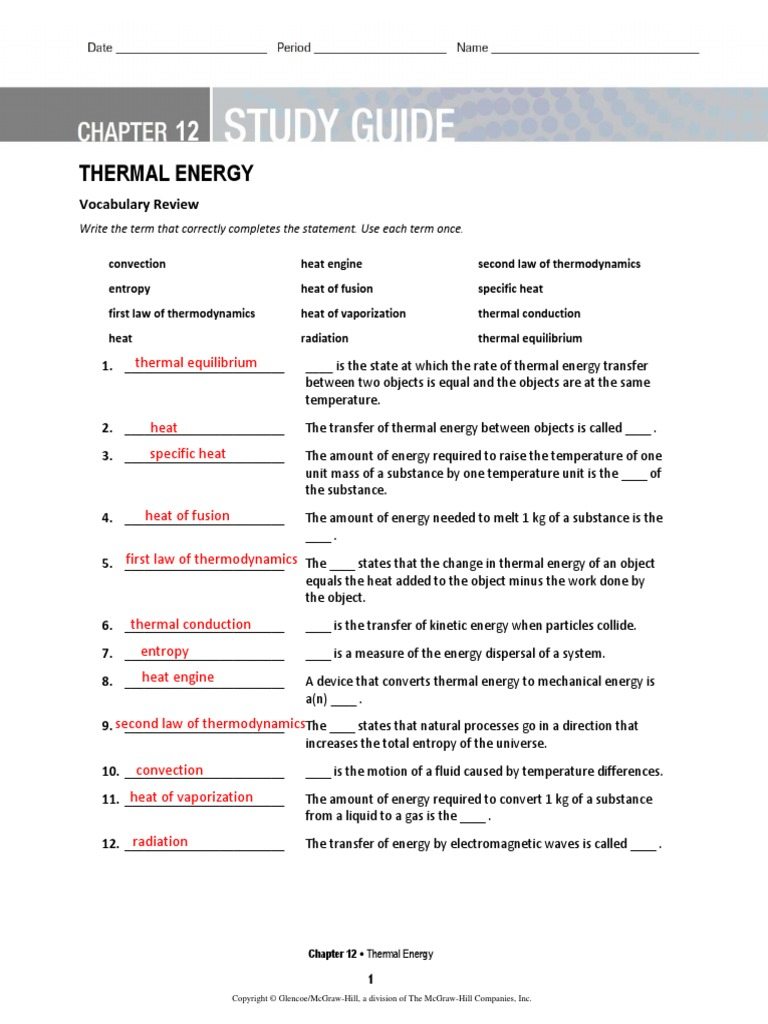 ch 12 study guide heat temperature rh scribd com heat study guide third grade heat study guide with answer