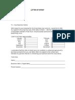 Letter of Intent Service Based 1