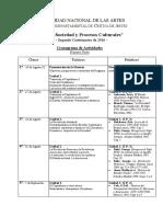 UNA 2016 - Estado, Soc y Proc. Cult - Cronograma Primera Parte.pdf