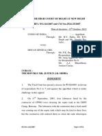 Delhi High Court Judgement