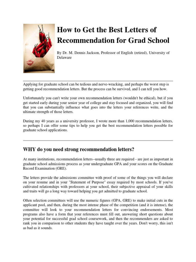 How to get good recommendation letters for graduate school howsto letters of recommendation for graudate school graduate aljukfo Images