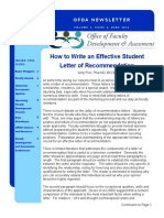 June 2012 - Reference Material for Writing Recommendation Letters