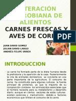 Alteración microbiana de alientos Carnes Frescas Y Aves De Corral.pptx