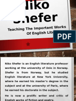 Niko Shefer - Teaching the Important Works of English Literature