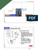 VFD system 08 ACS1000 Operation