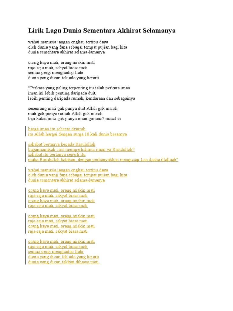Lirik Lagu Rumah Kita Surga Di Dunia Soul Out Utusan1