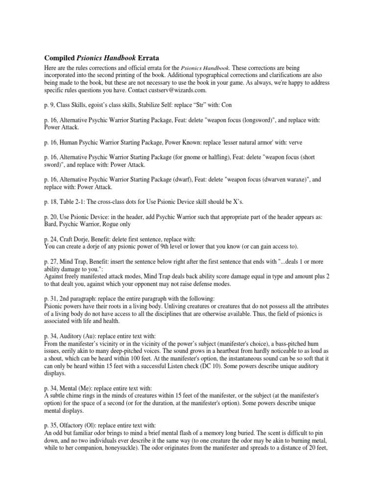 Psionic Sh Berra Ta | D20 System | Tsr (Company) Games