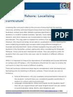 Localising Curriculum