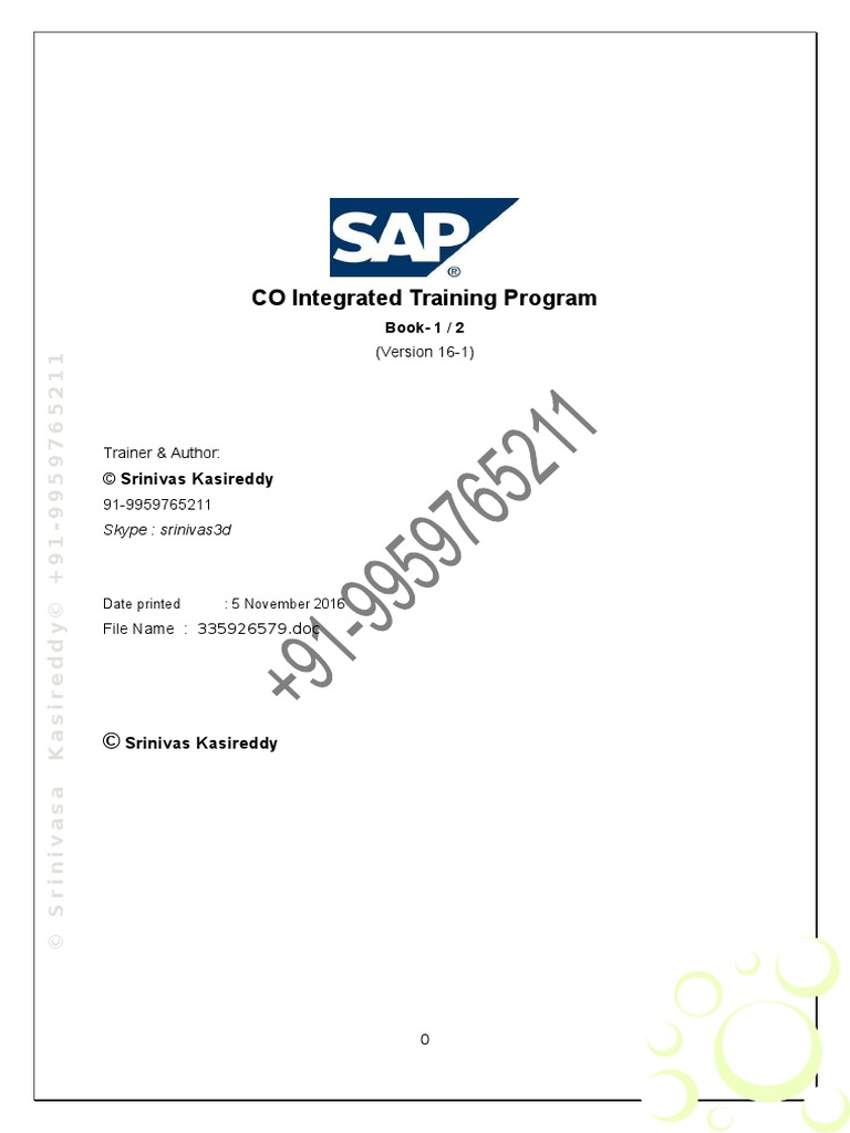 co stepbystep config user manual part 1 valuation finance rh scribd com SAP Controlling Area SAP Controlling Module