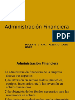 Power Point de Administración Financiera