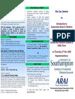 ARAI ISVR NVH Seminar Brochure 061108