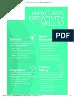 What Are Creativity Skills