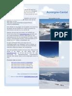 Sejour Le Clou - LeLioran - Cantal-Auvergne. Nieuwsbrief-Bulletin-Ski Et Randonner 2016_2017