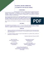 Resolución No. 200-2007 (Adhesión El Salvador a Armonización)