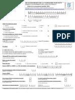 Fiche Recensement 2012 PDF