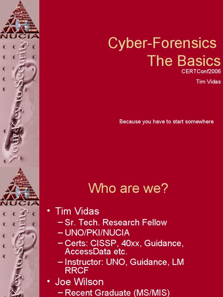 Cybe Forensics Basics   File Format   Computer Forensics