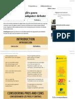 50Frases eninglés para sobresalir encualquier debate