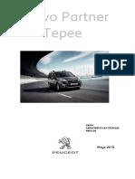 Ficha Tecnica Nueva Peugeot Partner Tepee