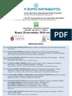 """11° Convegno """"Ambiente-Agricoltura-Alimentazione-Salute-Economia"""""""