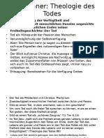 Karl Rahner Theologie Des Todes