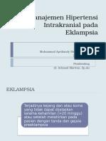 Manajemen Hipertensi Intrakranial Pada Eklapmsia Andy (Yang Bner)