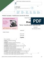 PROIECT de Atestat - Amplificatoare Operationale Referat