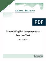 Practice Test Ela Grade 3