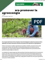 Una ley para promover la agroecología