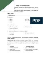 Questionnaire Part 1 5