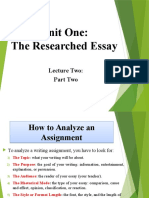 Researched Essay - Part II.pptx