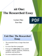 Researched Essay - Part I.pptx