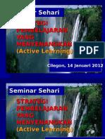 Strategi Pembelajaran Dan Belajar Aktif (Sminar 1)