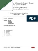 Proyecto BULLYING - Construccion de Ciudadania