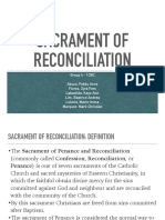 Sacrament of Reconciliation Report