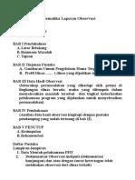 sistematika laporan observasi Pengendalian hayati