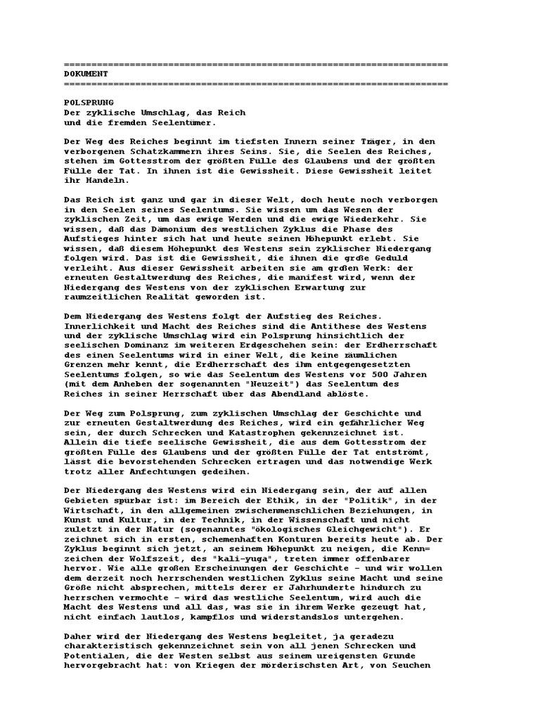 Zirkular 5 - Polsprung - Der zyklische Umschlag, das Reich und die ...