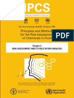 Principles and Methods for the Risk Assessement of Chemicals in Food