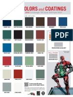 roofing color card