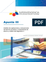 Análisis de captaciones y colocaciones de bancos privados y cooperativas de ahorro y crédito