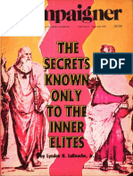 Secrets Known Only To The Inner Elites -​ Lyndon H LaRouche,​ Jr (1978)