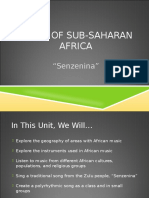 Sub Saharan African Music