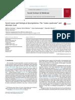 Seeman Et Al. (2014) 'Status Syndrome and Biological Dysregulation'