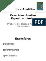 Aula 4 - Exercícios Análises Espectroquímicas - 2016 - 2