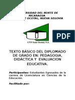 Texto Base Del Diplomado en Pedagogía, Didáctica y Evaluación Educativa. - Copia