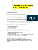 Local Complications From Local Anestheisa