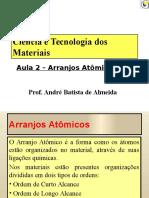 Aula 02 - Ciência e Tecnologia Dos Materiais - Arranjos Atômicos