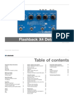 Tc Electronic Flashback x4 Delay Looper Manual English
